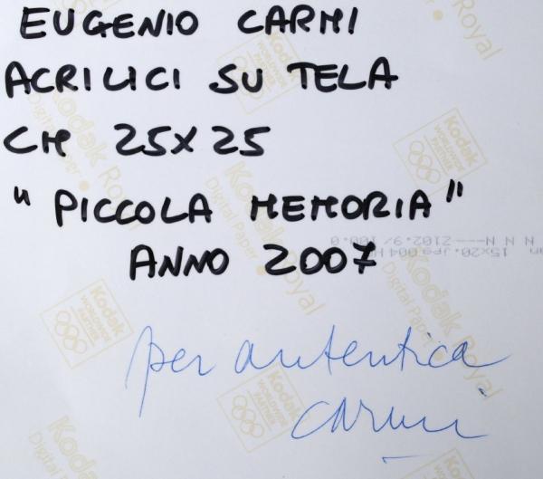 Carmi Eugenio - Piccola memoria