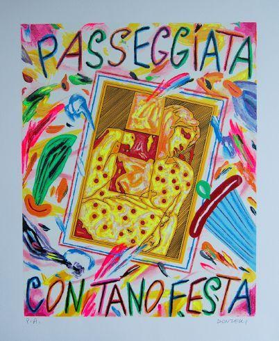Donzelli Bruno - Passeggiata con Tano Festa