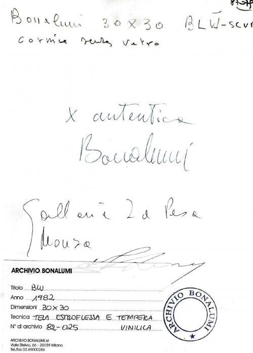 Bonalumi Agostino - Blu
